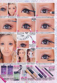 Gyaru Hair, Gyaru Makeup, Cute Makeup, Gorgeous Makeup, Makeup Looks, Makeup Inspo, Makeup Inspiration, Makeup Tips, Soft Grunge Hair