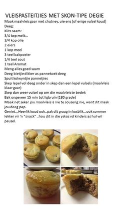 Fun Baking Recipes, Tart Recipes, Snack Recipes, Dessert Recipes, Cooking Recipes, Braai Recipes, Brunch Recipes, Appetizer Recipes, Savory Snacks