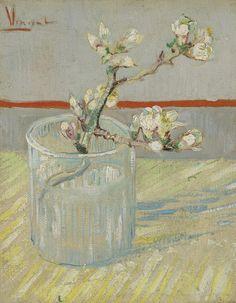 Bloeiend amandeltakje in een glas, 1888, Vincent van Gogh, Van Gogh Museum, Amsterdam (Vincent van Gogh Stichting)