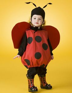 Countdown to #halloween #crafts #costumes #sewing #kids www.simplicity.com Lady bug toddler costume, photography by @Tom John Contrino