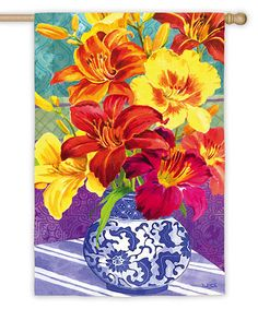 Another great find on #zulily! Daylily Bouquet Satin Flag #zulilyfinds