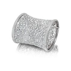 Gwyneth Paltrow's million dollar cuff bracelet ❤ liked on Polyvore featuring jewelry, bracelets, cuff, diamonds and silver