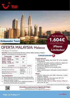 Oferta Malaysia: Malacca .7 noches.De Noviembre a Marzo 2015 con TK. Precio final desde 1.604€ ultimo minuto - http://zocotours.com/oferta-malaysia-malacca-7-noches-de-noviembre-a-marzo-2015-con-tk-precio-final-desde-1-604e-ultimo-minuto/