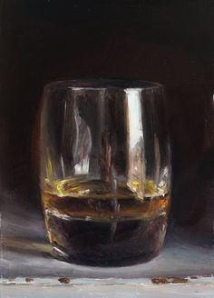 daily painting titled Single malt (reflections in a glass of whisky) - click for enlargement