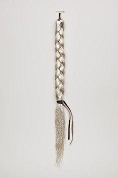 Margherita de Martino Norante | Brooch: The Wise Old Man, 2010 | Cotton, silver wire, white gold | via Klimt 02