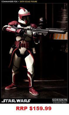 "Star Wars - Clone Commander Fox 12"" Figure Sideshow"