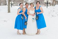 A bride and her bridesmaids in Buffalo, NY