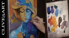 CUBIST Acrylic painting for beginners, Acrylic painting,clive5art