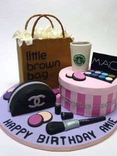 Teenage Girl's Shopping Spree Birthday cake