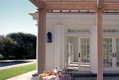 Pool house doors. In love! traditional patio by Crisp Architects