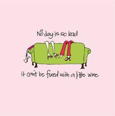 No day is so bad if it can´t be fixed with a little wine. Even Monday.