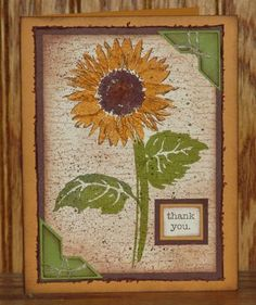 My first Serene Sunflower Card by peggidy - Cards and Paper Crafts at Splitcoaststampers
