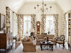 C. Weaks Interiors | C. Weaks Interiors | ZenBinder™ too much pattern on the drapes???