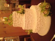Buttercream Ruffle Wedding Cake