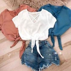 66 Trendy Fashion Womens Casual Sweaters - World Fashion Week Cute Summer Outfits, Short Outfits, Trendy Outfits, Cute Outfits, Girls Fashion Clothes, Teen Fashion, Fashion Outfits, Casual Clothes, Fashion 2018