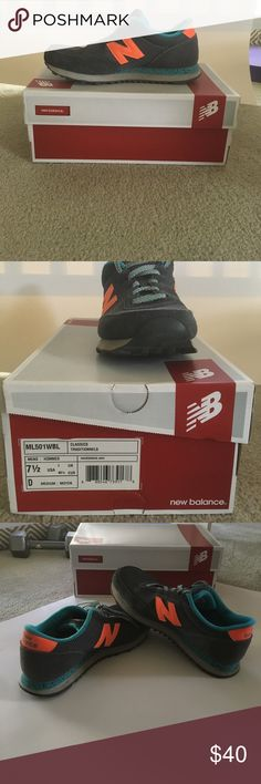 New Balance Classics 501 New Balance Classics ML501 in gray/blue/orange. Men's 7.5/women's 9.5. EUC with box. New Balance Shoes Sneakers