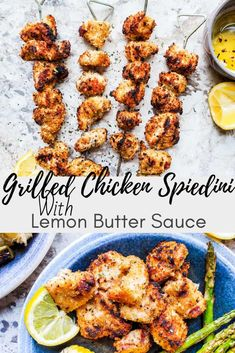 This easy Grilled Chicken Spiedini Recipe with Lemon Butter Sauce is the best summer grill recipe! Summer Grill Recipes, Easy Bbq Recipes, Lemon Recipes, Grilling Recipes, Cooking Recipes, Dinner Recipes, Walnut Recipes, Tailgating Recipes, Healthy Grilling