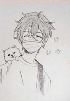 Anime Boy Sketch, Art Drawings Sketches Simple, Cute Easy Drawings, Easy Manga Drawings, Anime Character Drawing, Art Inspiration Drawing, Cartoon Art Styles, Art Sketchbook, Drawing Of A Boy
