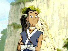 What's that mark on your forehead...? #Sokka #gif