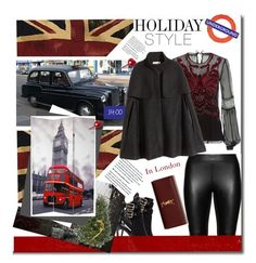 """""""Holiday Style: Leather Pants"""" by trendyyou ❤ liked on Polyvore featuring Burberry, Studio, Adorabella, TAXI, Alberta Ferretti, H&M, Yves Saint Laurent and holidaystyle"""