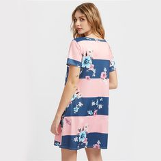 Why don't you have a Wide Striped Flor... yet? It's available now at Burt's Bargains. You can buy it here http://burtsbargains.com/products/wide-striped-floral-print-shift-dress?utm_campaign=social_autopilot&utm_source=pin&utm_medium=pin.