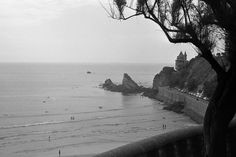 Cotes des Basques, Biarritz. In 1966. With Catherine Deneuve. Photo Mike McConnell