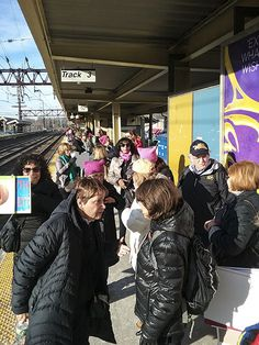 This week I will share some scenes from Saturday's Women's March in NYC. Here we are leaving from the Westport train station.#Truth #Dignity   #Fake #Liar #Impeach #President #Trump #WomensMarch2018 #TrumpShutdown