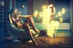 future technology | Alpha Coders | Wallpaper Abyss Sci Fi Women 320640