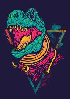 Space Rex Art Print