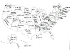 Buzzfeed Asked British People To Label The Map Of The USA...How They Did It Is Hilarious 28 - https://www.facebook.com/diplyofficial