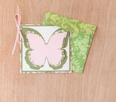 Anna Griffin Summer Soirees Butterfly Card. Make It Now in Cricut Design Space