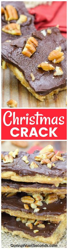 Good luck keeping this Christmas Crack away from the frenzied fingers of family members. Buttery toffee with a light, crispy crust, coated in rich chocolate and toasted pecans may just be the most addictive snack ever!