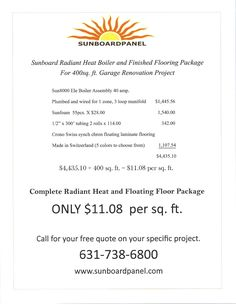 Boiler flooring package 2 6 2017