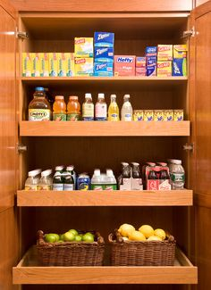 Pantry Area in Kitchen is Built-In with Shelving that Slides Out (Scott Sanders)