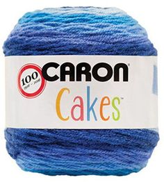 Caron Cakes Self Striping Yarn 383 yd 200 g (Blueberry Cheesecake)