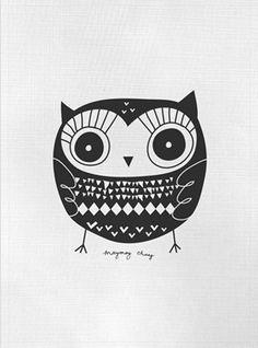 Beatrice black owl