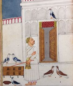 From the Mughal India blog post 'Pigeon keeping: a popular Mughal pastime'