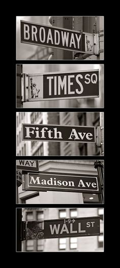 New York Street Signs.