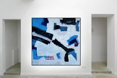 In Blue 1  From the large landscape series, ink and acrylic on paper  Painting on paper in acrylic and ink with enamel marker  Abstract based on the landscape  Inspired by the painter Franz Kline and Antoni Tapies  https://www.saatchiart.com/markfearn https://uk.pinterest.com/fearnfineart/my-art-gallery/