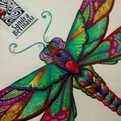 Adult Coloring, Coloring Books, Coloring Pages, Enchanted Forest Coloring Book, Dragonfly Art, Instagram Feed, Instagram Posts, Colouring Techniques, Johanna Basford
