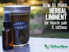How to Make an Herbal Liniment - This easy Herbal Liniment uses witch hazel and dried herbs for a powerful sore muscle fighter with peppermint, menthol, cayenne, ginger, etc.