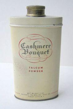 Vintage Cashmere Bouquet Talcum Powder Tin 2oz by yayasoldies