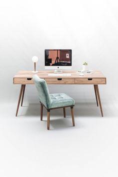 Schreibtisch aus Nussbaum Büro Frisiertisch Schreibtisch   Etsy