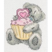 Tatty Teddy heart cupcake.  Natasja has tonnes of super cute pins on her board