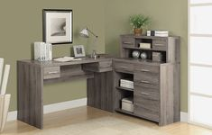 50+ Monarch Reclaimed Look L Shaped Home Office Desk Dark Taupe - Cool Apartment Furniture Check more at http://www.shophyperformance.com/monarch-reclaimed-look-l-shaped-home-office-desk-dark-taupe/