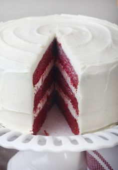 Red Velvet Cake...  my families favorite...but I am doing it with purple icing for Ellies Bday:) cute!!