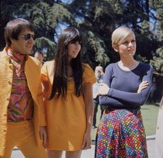 Sonny, Cher, Twiggy.  The 60's celebrities...so ultra hip.