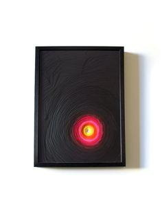 Paper sculpture Spirale black & pink by maudvantours on Etsy