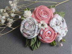 Купить Броши текстильные. Коллекция Яблонька 2 варианта - сиреневый, розовый, летняя мода