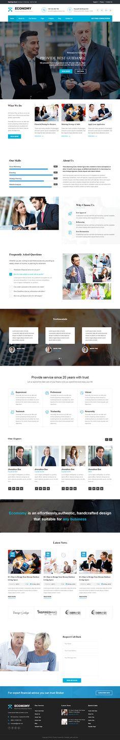 Economy – Finance & Business WordPress Theme
